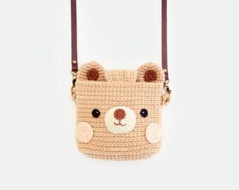 Crochet Case for Fuji Instax Camera - Cute Bear