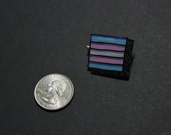 Trans Pride Pin (Rectangle)