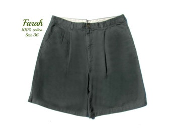 men's dress shorts,pleated front  shorts, golf shorts, green shorts,90's shorts, size -36 shorts,   # 31