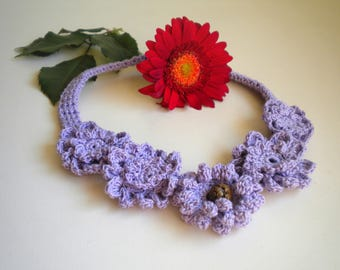 Necklace, crochet, handmade crochet necklace