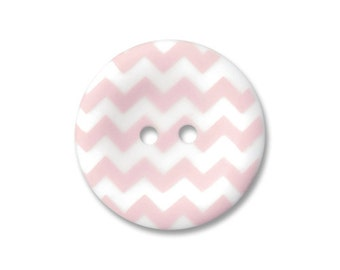 Riley Blake Carded Chevron Button Set of 4 in Baby Pink