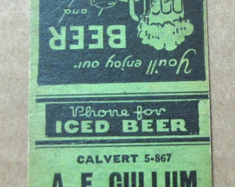 1940s A E Cullum Grocery Store and Furnished Rooms Baltimore Maryland