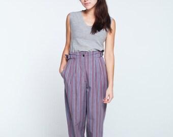 SALE** vintage verticle stripe high waist trousers