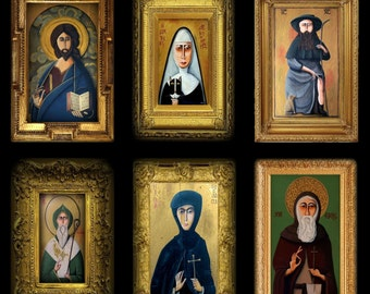 Set Of 6 Religious Icon Prints By Tim Campbell