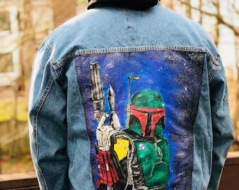 Boba Fett Galaxy Denim Jacket