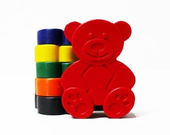 Teddy Bear crayons - Birthday Gift - Party Favour - Set of 6 - Woodland Birthday - Teddy bear picnic - Childrens Party Gift - Baby shower