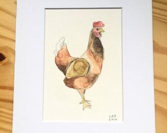 Watercolor Chicken