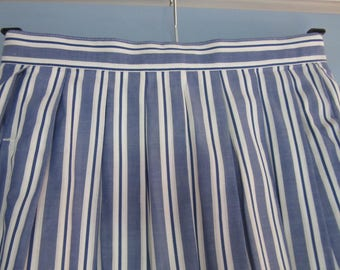 Vintage LAURA ASHLEY Beautiful Striped cotton Skirt  Vintage Uk Size - 10  USA 8  Eur 36