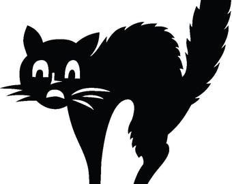 scared cat clip art etsy rh etsy com  free clipart scared cat