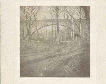 Vintage photo 1900 Conduit Bridge Washington DC cabinet