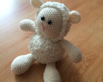 Cuddles the Amigurumi Sheep