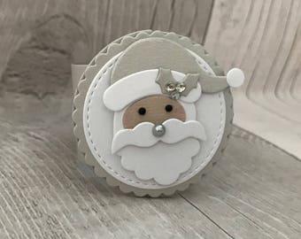 Napkin Rings, Christmas Napkin Ring, Christmas Table Decoration, Christmas Centerpiece, Santa Napkin Ring, Holiday Napkin Rings