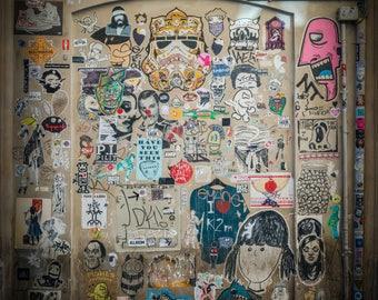 Rome Photography Print, Street Art in Trastevere, Lazio, Italy, historic center, Roma, roman forum ruins, writings, writers, mural, wall art