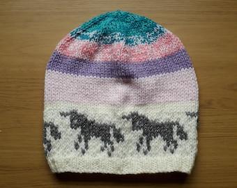 Unicorn sparkle slouch beanie hat