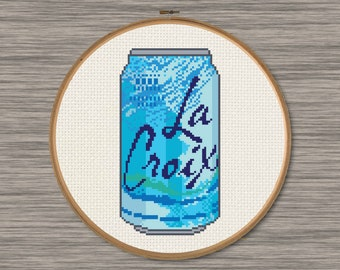 La Croix Pure Soda Can - PDF Cross Stitch Pattern