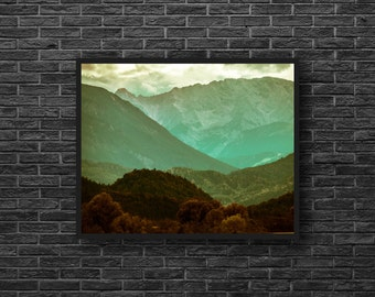 Green Wall Decor - Nature Photography - Landscape Photography - Green Mountains - Mountain Print - Mountain Wall Art - Nature Wall Decor