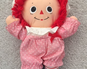1980s Baby Raggedy Anne Doll