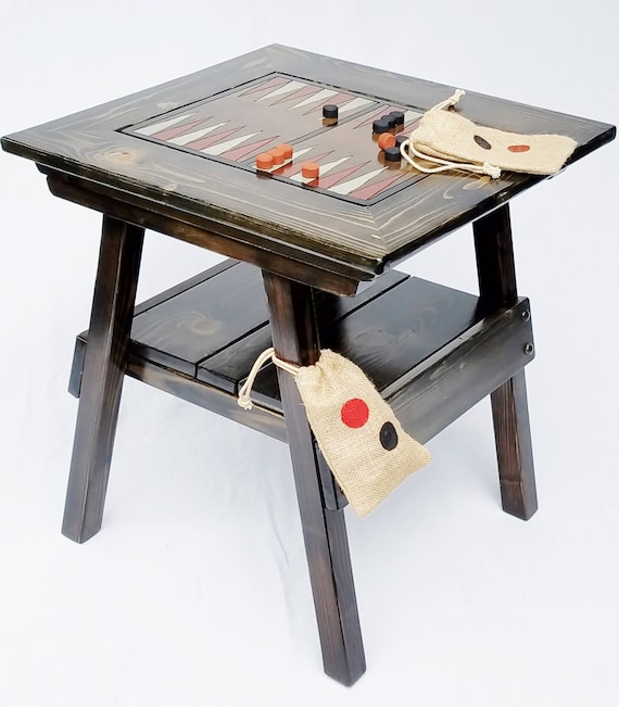 Backgammon Game Checkers Game Table Outdoor Wood Furniture