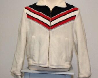 Vintage 1960s cream ski jacket coat Fieldmaster Sportswear S/M 376