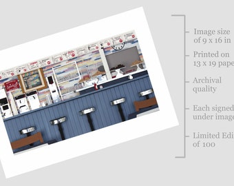 ArtCliff Diner Limited Edition Archival Print