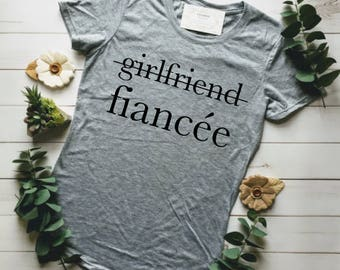FIANCE SHIRT, ENGAGED Af, Fiance, Girlfriend Fiance Shirt, Engagement Gift, Engaged Tshirt, Resting Bride Face, Fiancee, Bachelorette Shirts