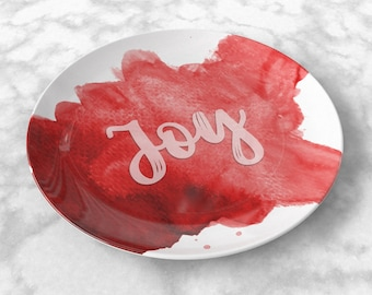 Feel Good Plate-Red (Personalized)