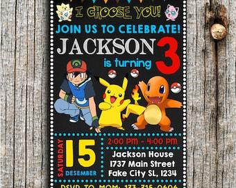 Pokemon Invitation, Pokemon Birthday, Pokemon Cards, Pokemon Birthday Invitation, Pokemon Party, Pokemon Invites, Pokemon Birthday Party