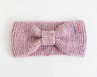 Headband, turban headband, pink headband, headband knit headband, ear muffs, woman, gift MOM, wide band headband