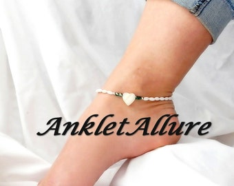 BEACH Anklet HEART Ankle Bracelet Choker Necklace Avail Shell Anklets For Women GUARANTEED