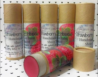Strawberry & Hibiscus Lip Balm 1oz.