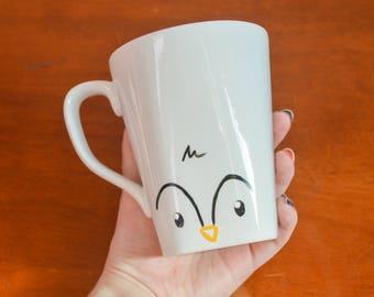 Penguin Mug Winter Mug Holiday Cup Christmas Mug Cute Animal Mug