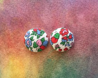 Vintage Inspired Button Earrings / Wholesale Jewelry / Hypoallergenic / Recycled Fabric / USA Made / Bulk Earrings / Gifts for Her