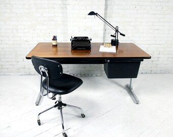 Mid century Herman Miller Action Home Office desk