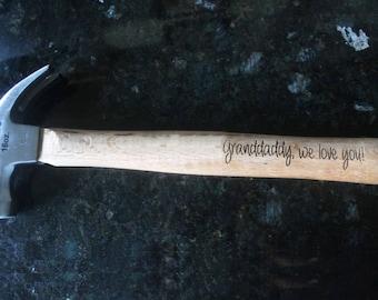 Personalized hammer, custom hammer, grandfather gift, Christmas gift, birthday gift, grandpa gift, granddad present, grandfather birthday