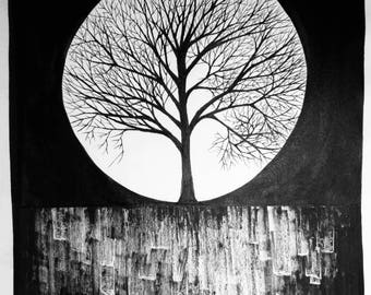 Drawing of The Tree that Stole Moonlight