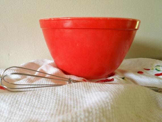 Pyrex Red 401, Rare Pyrex Primary Mixing Bowl, Nesting Bowl, Pyrex ...