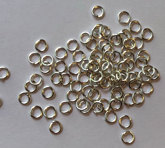 5 Grams of Metal Jewelry Findings - Jumprings, 4.5mm OD, 3mm ID, 22 Gauge, Open Rings, Silver Color, Beading, Small Size, Base Metal