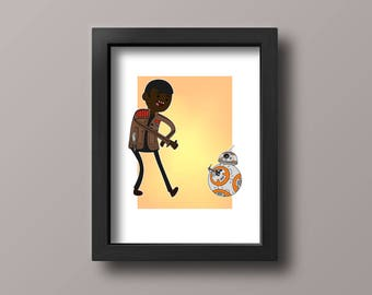 Star Wars Time with FN-2187 and BB-8!