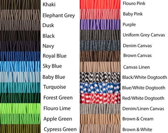 Round Fabric Cable 3 Core, HUGE Variety of Colours