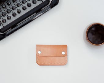 Leather Wallet - The Buddy - Natural (Veg-Tanned)