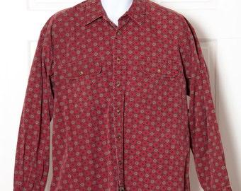 Vintage Men's 90s Long Sleeve Button Down DOCKERS - L