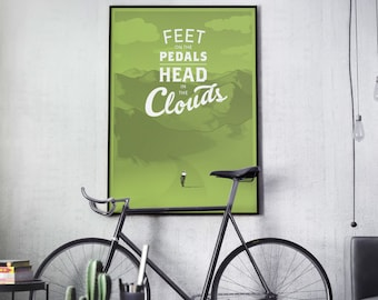 Bicycle Poster from ARTCRANK Denver 2014 • Screen Printed Bike Art Print Road Cycle in Mountains Colorado Rapha Outdoors Nature Gift Decor