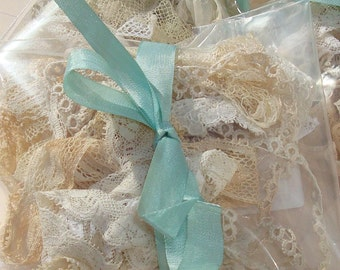 Antique Lace Vintage Lace Trim Goodie Bag Grab Bag