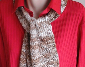 Handspun handknit Alpaca and Silk Scarf