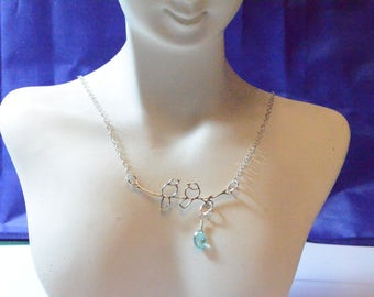 Sterling Silver Lovebird NEcklace