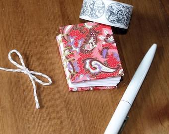 Mini Coptic Stitch Lined Notebook