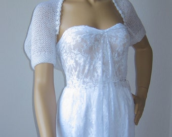 White Wedding Bolero, Bridal Shrug, Sequin Shrug, Bridal Cover Up