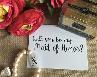 Will You Be My Maid of Honor, Bridesmaid and Matron of Honor Cards, Bridesmaid Card, Bridal Party, Wedding