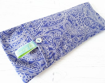 Soothing Lavender Eye Pillow - Blue Paisley