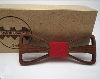 Wood Bow Tie / Breathing in dark / Mens Accessories / Mens necktie / 100% hand made / Best personal gift